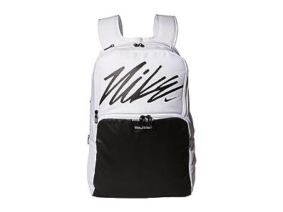 Nike Brasilia XL Backpack Graphics (White/White/Black) Backpack Bags