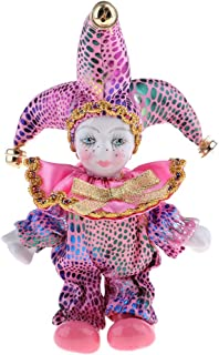 Kesoto 5Inch Adorable Triangel Figurine Ceramic Italian Wishing Doll Love Tokens for Christmas, Valentine Pink