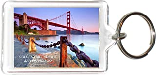 California USA United States Acrylic Keychains KeyRings Holders (12 Piece, Style: Golden Gate Bridge #J3)