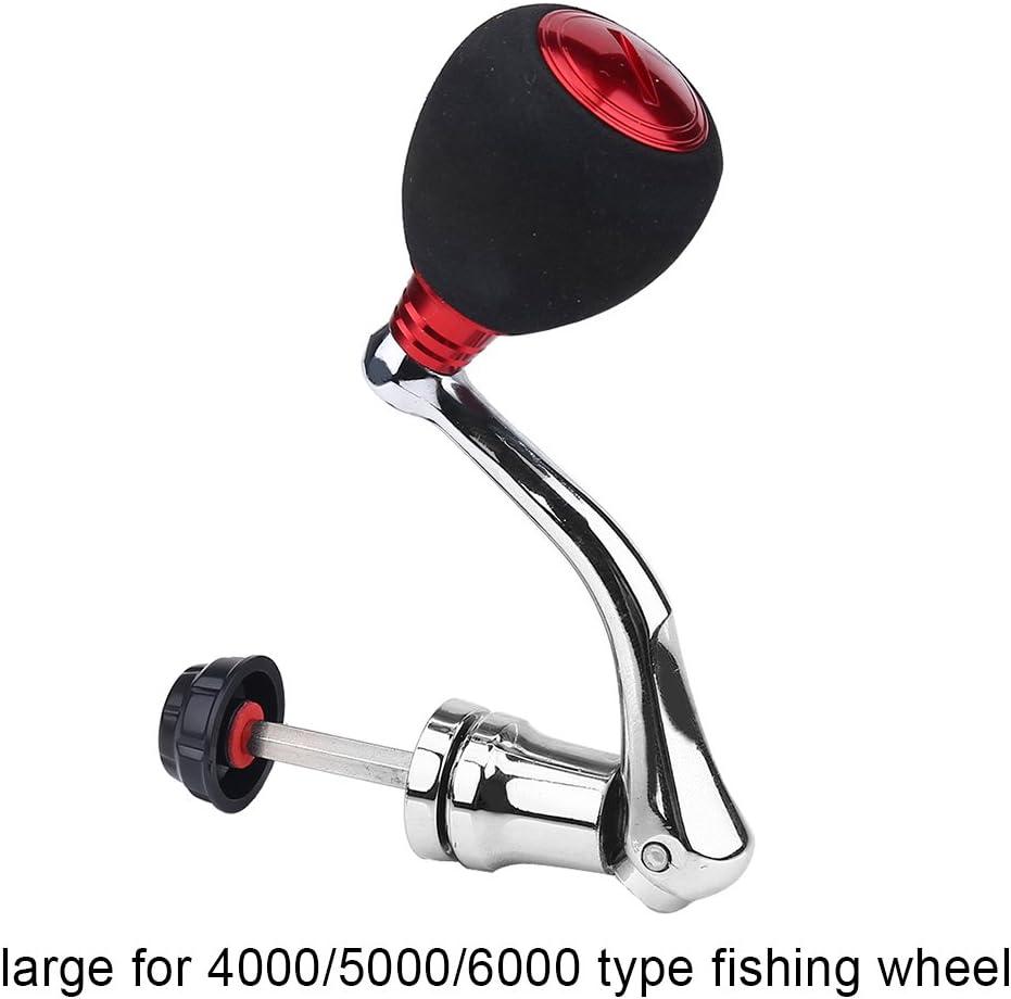 Vbestlife Fishing Reel Power Handle Replacement Rotary Power Knob Handle Metal Rocker Arm Grip for Spinning Fishing Reel Reel Power Handle Aluminum Alloy