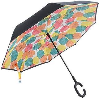 MasterCanopy Inverted Umbrella,Double Layer Reverse Windproof Teflon Repellent Umbrella for Car and Outdoor Use, UPF 50+ B...