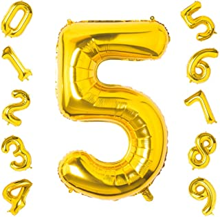 Best gold helium number balloons Reviews