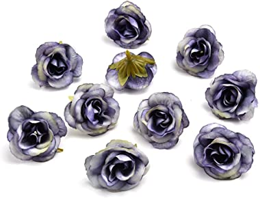 Fake flower heads in bulk wholesale for Crafts Peony Flower Head Silk Artificial Flowers Wedding Decoration DIY Decorative Wr