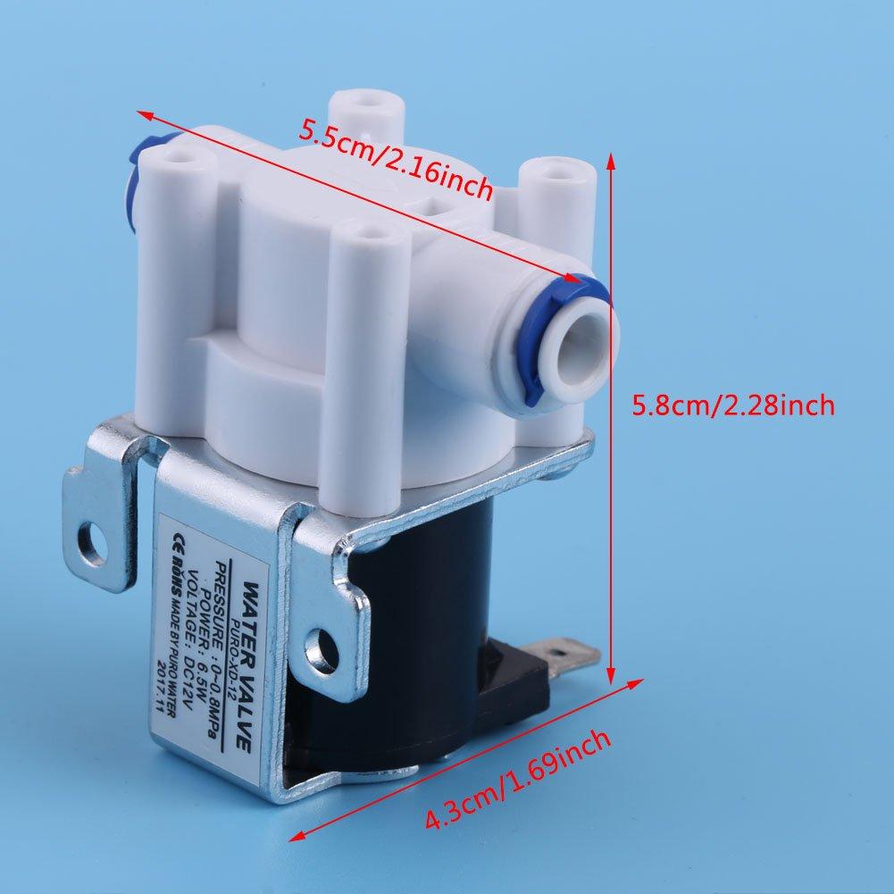 GLOGLOW 1 unid DC 12 V válvula de Agua de válvula de purificador de solenoide eléctrico de Agua conexión rápida Normalmente Cerca de Alta conductividad: Amazon.es: Hogar
