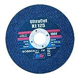 UltraCut X1 125 - Disco de corte (VPE, 5 unidades, para acero inoxidable, acero fundido, aluminio, tubos de paredes finas, placas de perfil, plásticos, 1 mm de ancho de corte)