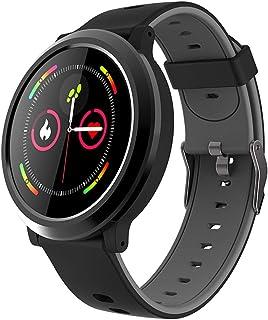 LTLJX Reloj Inteligente Mujer Hombre Smartwatch Pulsera Actividad Relojes Inteligentes Deportivo, Podometro Contador de Pasos, Calorías, Sueño,Distancia Cronómetros para iOS Android,Negro
