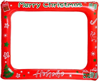 CCINEE Christmas Inflatable Selfie Frame Photo Booth Props for Party Props Favor Supplies