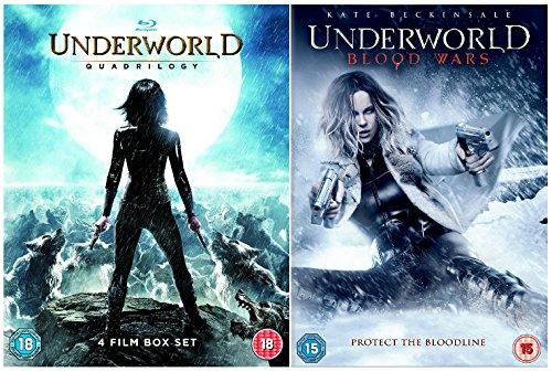 Underworld pentalogy 1-5 Complete Collection - Underworld + Underworld: Evolution + Underworld: Rise of the Lycans + Underworld: Awakening + Underworld: Blood Wars
