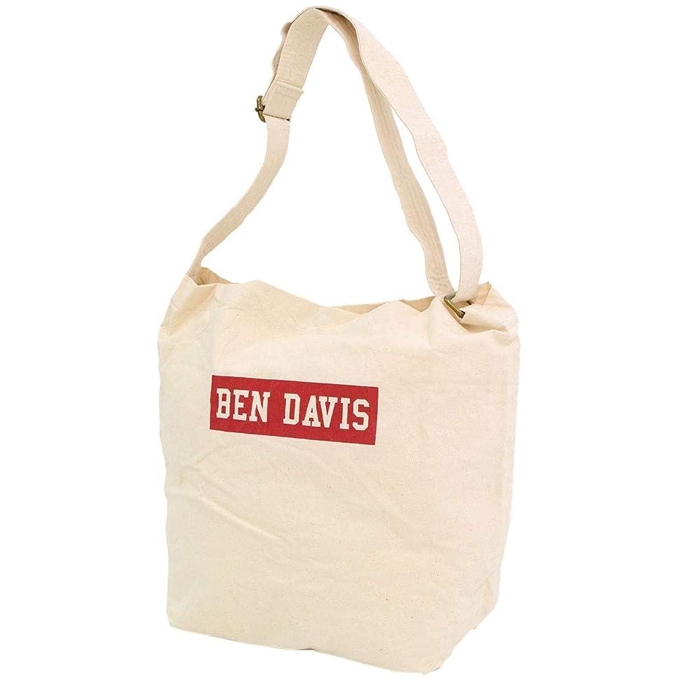 爆発物ジャニスキネマティクス[ベンデイビス] BEN DAVIS ショルダーバッグ ボックス ロゴ ニュース ペーパー バッグ ホワイトレーベル