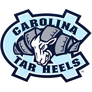 5 Inch UNC Rameses Decal University of North Carolina Tarheels Tar Heels Logo NC Removable Wall Sticker Art NCAA Home Room Decor 5 by 4 Inches