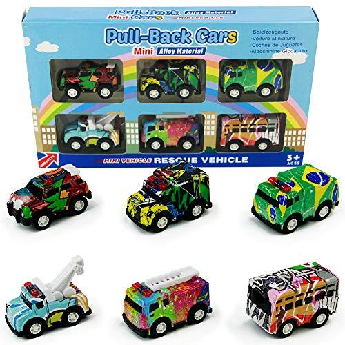 Lot de 6 mini véhicules