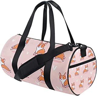 Sport Gym Bag Corgi Dog Love Heart_副本 Duffel Bag for Men and Women Travel