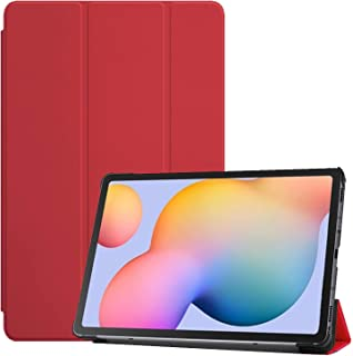 For Samsung Galaxy Tab S6 Lite P610 / P615 Smart Case Flip Cover Leather Case Soft TPU Back And Trifold Stand With Auto Sl...