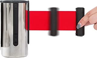 Wall Mounted Safety Barriers Red Retractable Belt,Wall Mounted Retractable Belt Barrier, Stainless Steel Rope Safety Barri...