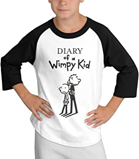 MULTY9 The Boys Diary Life Cartoon Child Youth 3/4 Raglan T-Shirt Top
