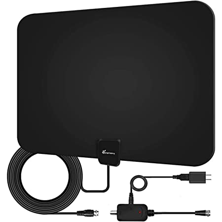 2020 Newest HDTV Indoor Digital TV Antenna 130 10ft High Performance Coax Cable Miles Range with Amplifier Signal Booster 4K HD Free Local Channels Support All Television TV Antenna