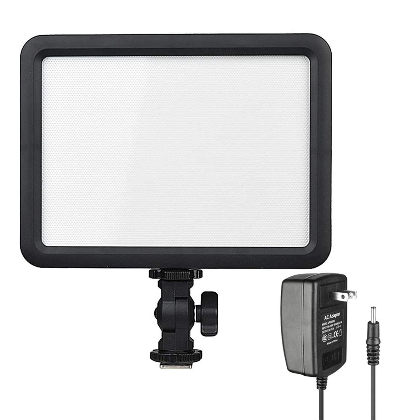 Godox LEDP120C CRI95+ Ultra-Thin Dimmable 3300K-5600K?LED Video Light Panel On Camera Continuous Lighting Compatible for DSLR Cameras,Camcorders Studio Photography,Video Shooting & AC Power Adapter