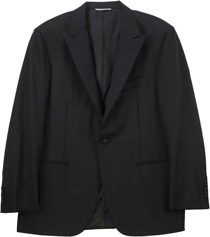 Canali Men's Elegant Wool Tuxedo with Silk Peak Lapels Suit