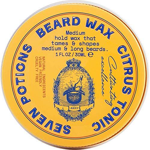 Seven Potions Cera Barba da Uomo - Cera Baffi e Barba per Nutrire e Modellare - Naturale, Biologica e Cruelty Free - Ideale per la Cura della Barba - Citrus Tonic (30ml)