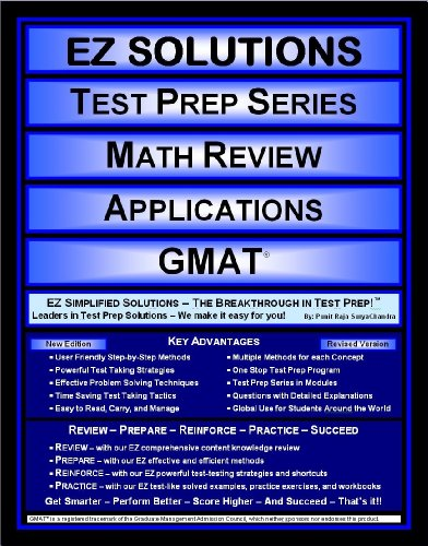 EZ Solutions - Test Prep Series - Math Review - Applications - GMAT (Edition: Updated. Version: Revised. 2015)