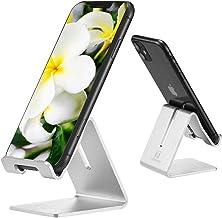پایه نگهدارنده تلفن همراه رومیزی ، پایه آلومینیوم ToBeoneer Solid Portable میز جهانی برای همه صفحه نمایش تبلت تلفن های هوشمند Huawei iPhone X 8 7 6 Plus 5 Ipad 2 3 4 Ipad Mini Samsung (نقره)