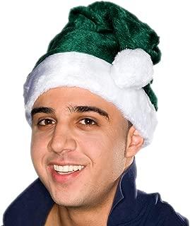 Adult Green Plush Santa Hat