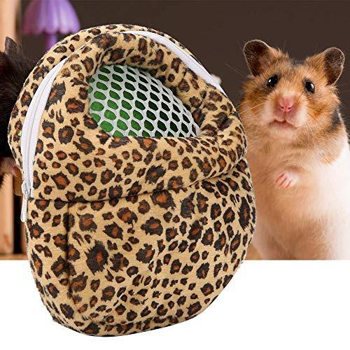 Sheens Weiche Hamster-Tragetasche Leopard-Tragetaschen Tragbare atmungsaktive Ausgabetasche für kleine Haustiere (22 * 18CM-Gelb)