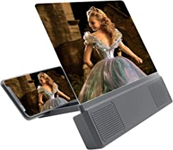 IIKOOPEEK Mobile Phone Magnifier 12-inch High-Definition Screen Amplifier Large Screen HD Display with Speaker in Wired Connection