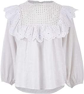 Boho Bird Womens Blouses The Lightness of Being Shirt White - Tops