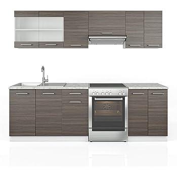Bloque empotrable de cocina (240 cm), color gris: Amazon.es: Hogar