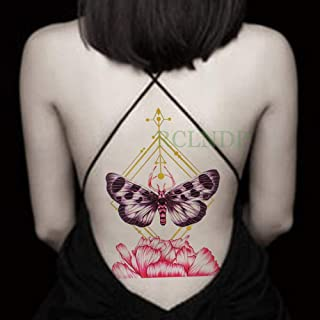 Etiqueta engomada del Tatuaje a Prueba de Agua Mariposa Rose ...