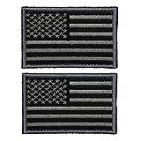 ULTNICE Flag Patches taktische USA Flagge Patch selbstklebende US militärische einheitliche Emblem Patches Pack 2