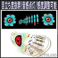 音感応LEDイルミネーションフィルム ウーハースピーカーボリューム (AUTOLAND)
