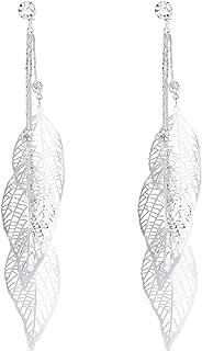 SILVERAL Silver Earrings for women Crystal Dangle Earrings Drop Pierced Earrings