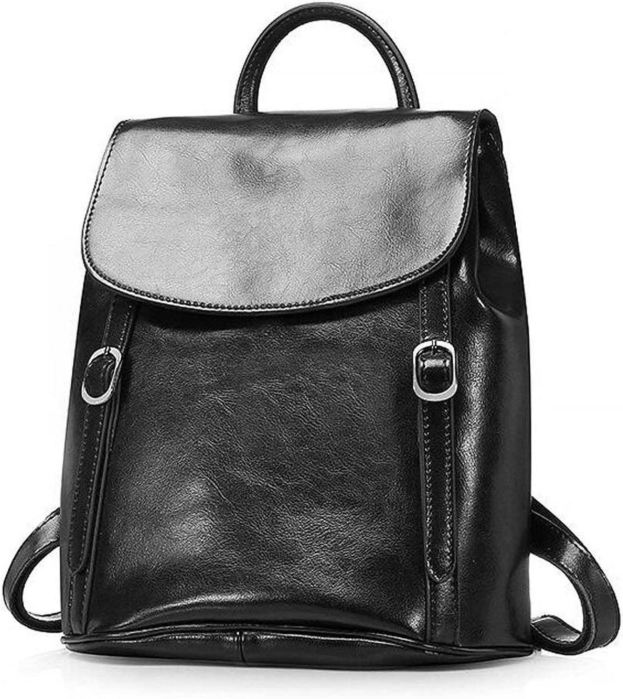 Damen Rucksack Tasche Reise Dame Bag, Casual Leicht Mehrere Taschen Damen Rucksack 27  32CM (10.63  12.60inch) (Farbe   SCHWARZ, gre   One Größe)