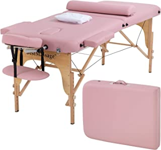 Portable Massage Table Massage Bed SPA Bed 2 Fold Massage Table Height Adjustable 73 Inch..