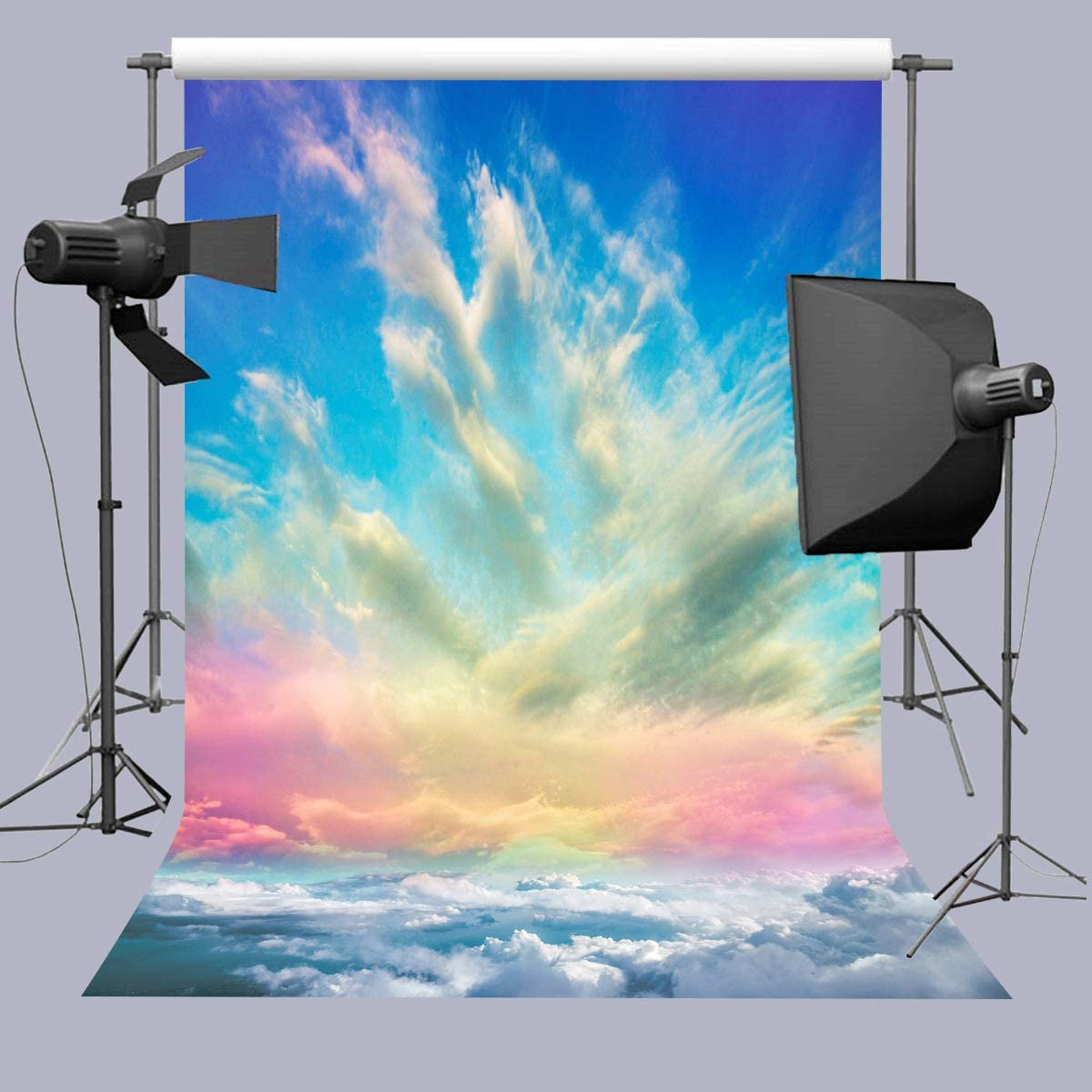 6.5x10ft Background Spring Flowers Photography Backdrop Studio Photo Props LHFU627