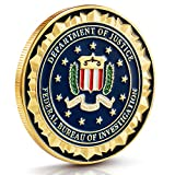 FBI Challenge Coin Collection - Gold Plated Challenge Coins, Stunning Detailing