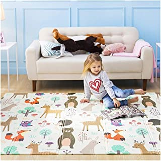 Q Baby Play Mat,Xpe Puzzle Children's Pad Play Mat Baby, Thickened Conical Folding Pad Play Mat For Baby for Bedroom Livin...