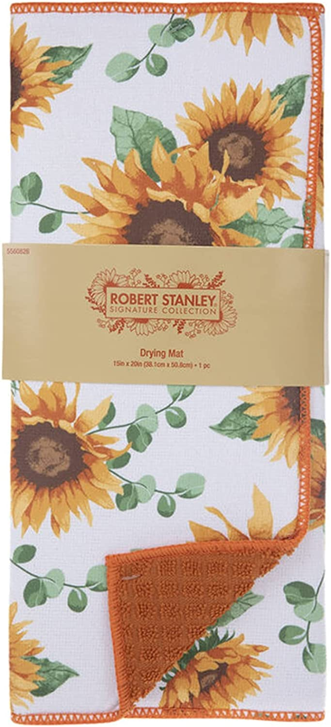 Sunflower Dish Drying Mat Fall Sunflowers Some reservation 40% OFF Cheap Sale -