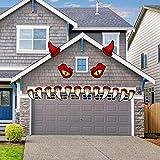 VEYLIN Halloween Monster Face Decoration, Scary Outdoor Doorway Garage Window Decoration for Halloween Party