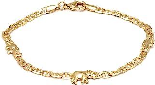 Barzel 18K Gold Plated Flat Marina Elephant Anklet