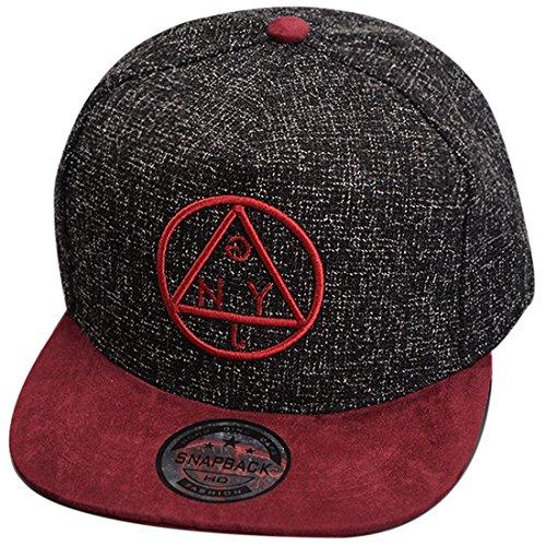 Belsen Hip-Hop Dreieck Muster Cap Baseball Hut (Erwachsene, schwarz)