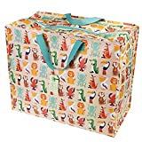 Rex London Bolsa Reutilizable Colourful Creatures, 70 litros, Plástico