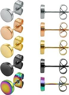 ZeSen Jewelry 5 Pares Pendientes de Acero Inoxidable ...