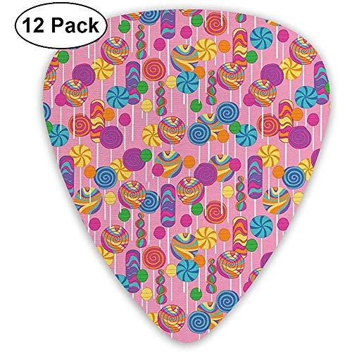 Snoepjes Suiker Klassieke Gitaar Picks (12 Pack) voor Elektrische Gitaar, Akoestische Gitaar, Mandoline en Bas