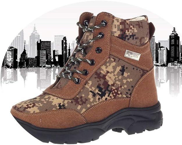 chaussures Bottes d'hiver Chaudes Antidérapantes, Bottes en Cachemire épais pour Hommes, Bottes d'hiver, Bottes d'hiver, Bottes De Combat Camouflées