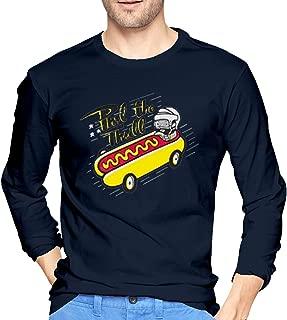 Whsduids Phil The Thrill Phil Kessel Funny Hotdog Hockey Mens Casual Slim Fit Basic Long Sleeve Fashion T-Shirt