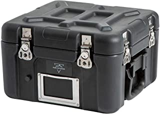 Monoprice Rotomodeled Weatherproof Case - Black (12 X 11 x 9 inches) Stackable with Customizable Foam and Wheels - Pure Outdoor Collection
