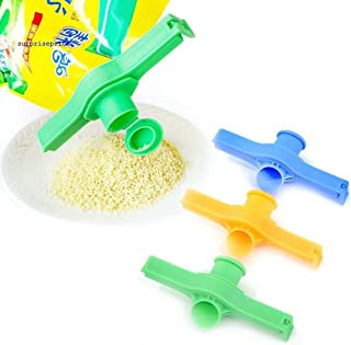 GGJIN Sealing Bag Clip Discharge Nozzle Food Sealer Saver Clamp Kitchen Storage Tool,Variation:Random Color